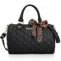 Betsey Johnson Handbag, Quilted Satchel - Handbags & Accessories - Macy's
