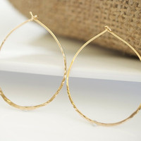 Gold Earrings Gold Hoop Earrings by Jewels2Luv on Etsy