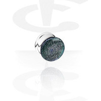 Dichroic Pyrex Plug[Pyrex Glass] - Crazy Factory Piercing