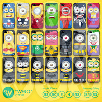 Despicable Me iPhone 5 Case, Superhero Minion iPhone 5 5s 5c Hard Case & Rubber Case,cover skin case for iPhone 5/5s/5c case