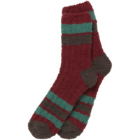 Men's Red Snuggle Sock | Cozy Socks | Life is good