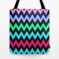 Zigzag #4 Tote Bag by Ornaart