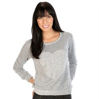 One Clothing Juniors Knit Heart Pullover with Reversed Trim at Von Maur