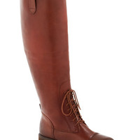 Equestrian and Answer Boot in Brown | Mod Retro Vintage Boots | ModCloth.com