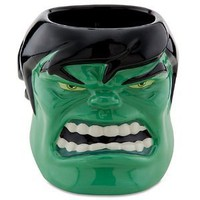 Disney Sculptured Incredible Hulk Mug Marvel Comics Three-dimensional Brand New