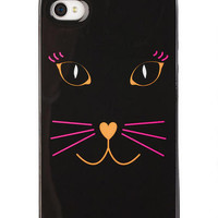 Cat Face With Ears iPhone4 Case