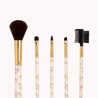 Wild Rose Cosmetic Brush Set