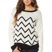 Lissa Chevron Sweater - ShopSosie.com