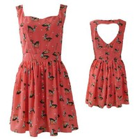 Deer Heart BACKLESS Dress