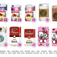 Nutella Starbucks Pokemon Pokeball Meme Hello Kitty Parody Cover Case「 iPhone 5 5S 4 4S 3G 3GS iPod Touch Galaxy S4 S3 S2 Note 1 2 」