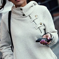 Grey fashion sweater