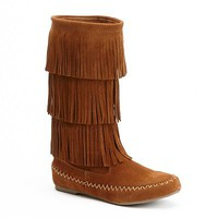Mudd® Tall Fringed Boots - Women