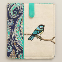 Bird Embroidered iPad Case