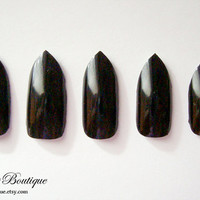 Fake Nail Set  Stiletto Tip Nails You Choose by CuteberryBoutique