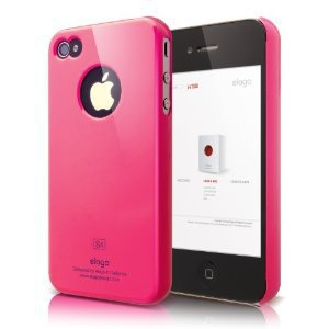 Amazon.com: elago S4 Slim Fit Case for AT&amp;T and Verizon iPhone 4 with Logo Protection Film (Hot Pink): Cell Phones &amp; Accessories