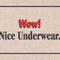 Amazon.com: Wow! Nice Underwear ... Humorous Durable Doormat: Patio, Lawn &amp; Garden