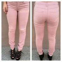Blush Pink Skinny Pants