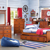 Mission Oak   6 Pc Full Daybed Bedroom
