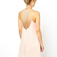 ASOS Embellished Cage Skater Dress
