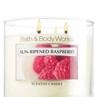 Sun-Ripened Raspberry 14.5 oz. 3-Wick Candle   - Slatkin & Co. - Bath & Body Works