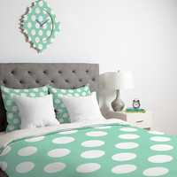 DENY Designs Home Accessories | Allyson Johnson Mintiest Polka Dots Duvet Cover