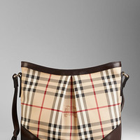 Medium Haymarket Check Crossbody Bag