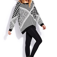 Geo Chic Oversized Sweater | FOREVER 21 - 2000125693
