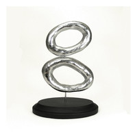 Retro Silver Links Art Sculpture  Linked / Mid by mkwATELIER