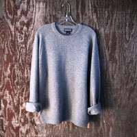LANDS END cashmere lambswool sweater light grey by GloriousMorn
