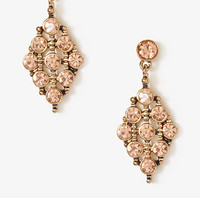 Rhinestoned Tribal Style Earrings | FOREVER 21 - 1030408065