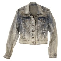 Xhilaration® Juniors Denim Jacket with Studs