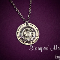 My Airman Belongs to Me - Hand Stamped Stainless Steel Necklace - Air Force Wife - Air Force Seal Charm - Military Jewelry - Deployment Gift