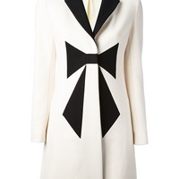 Love Moschino Bow Front Coat - Francis Ferent - Farfetch.com