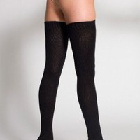 American Apparel Cotton Solid Thigh-High Sock