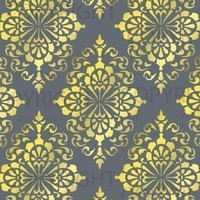 LARGE WALL DAMASK STENCIL PATTERN 12 inch x 12 by Lightsforever
