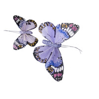 Crown and Glory Lilac Monarch Butterfly Hairclips
