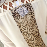Leopard Contrast Blouse | The Rage