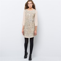 Sequined Sweatshirt Dress