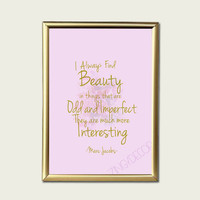 quote print ,8 x 10 in, fashion print ,Marc Jacobs , retro print, gift, wall art, french print, paris