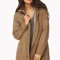 FOREVER 21 Desert Cool Utility Coat Brown Small