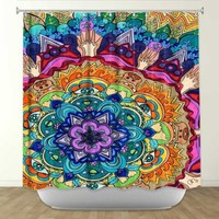 Shower Curtain from DiaNoche Designs by Rachel Brown Home Décor and Bathroom Ideas - Microcosm Mandala