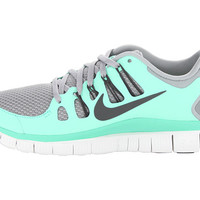 Nike Free 5.0+ Silver/Green Glows/Summit White/Charred Grey - Zappos.com Free Shipping BOTH Ways