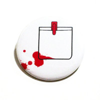 Zombie Pins Halloween Buttons Shaun of the Dead Pinback Buttons Red Pins Geeky Pins Movie Buttons