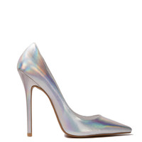 Jeffrey Campbell Darling Pump in Silver Hologram