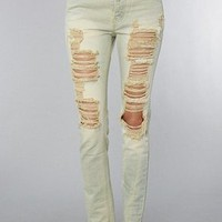Unif The Slacker Jeans in Bleach Out,Denim for Women