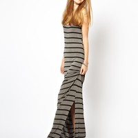 A Postcard From Brighton Striped Jersey Maxi Dress