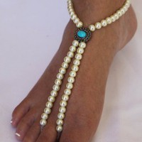 Barefoot Sandals Vintage Beach Weddings Bridal Jewelry Foot Jewelry | ABiddaBling - Wedding on ArtFire