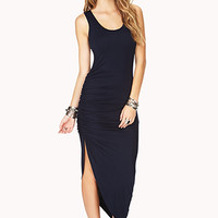 Bold Ruched Side Maxi Dress
