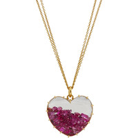 Renee Lewis Ruby Shake Heart Pendant Necklace at Barneys.com