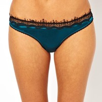 Mimi Holliday Bisou Bisou Azure Satin Classic Knicker